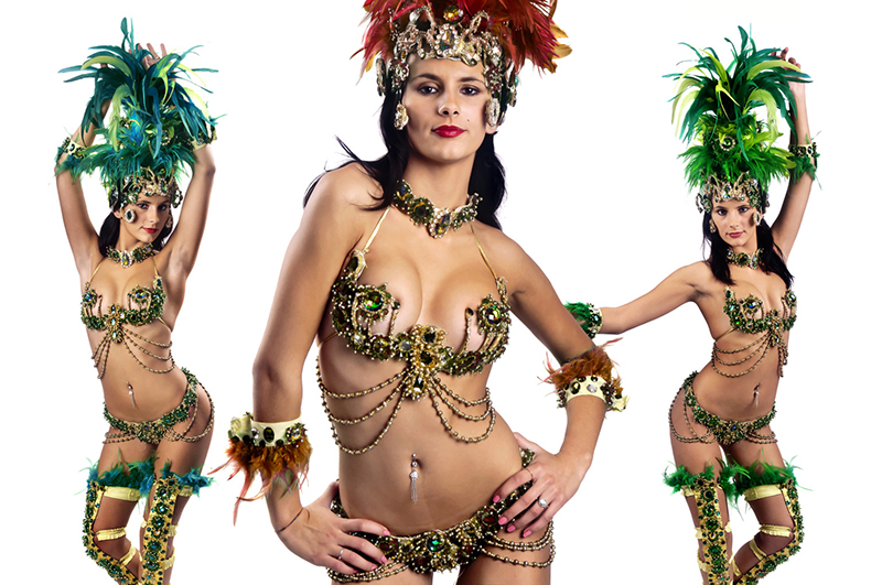 Sexy young woman in brazilian style Carnaval clothes; Shutterstock ID 90809126; PO: aol; Job: production; Client: drone