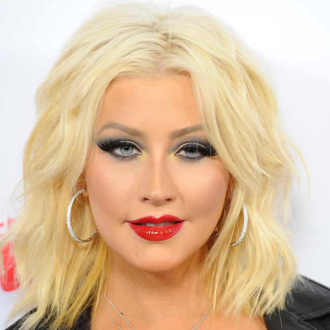 """WEST HOLLYWOOD, CA - APRIL 23: Singer Christina Aguilera arrives at NBC's """"The Voice"""" Season 8 red carpet event at Pacific Design Center on April 23, 2015 in West Hollywood, California. (Photo by Angela Weiss/Getty Images)"""